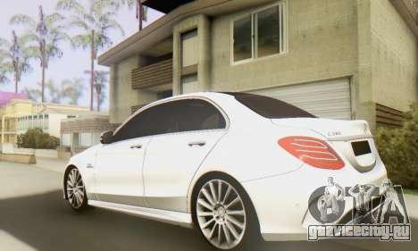 Mercedes-Benz C250 AMG для GTA San Andreas вид сзади слева