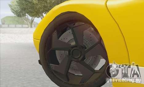 Pegassi Infernus для GTA San Andreas вид сзади