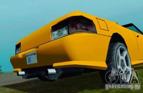 Sultan Сabriolet v2.0 для GTA San Andreas вид справа