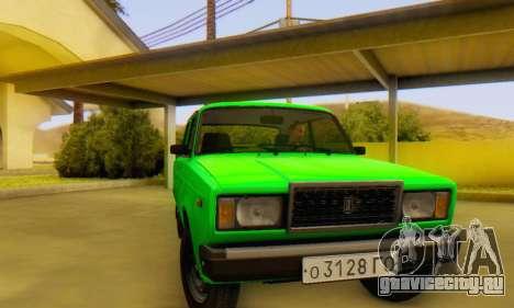 ВАЗ 2107 Stock для GTA San Andreas вид справа