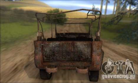 Сгоревший УАЗ 469 для GTA San Andreas вид сбоку