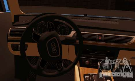 Audi S6 Avant 2014 для GTA San Andreas вид сзади слева