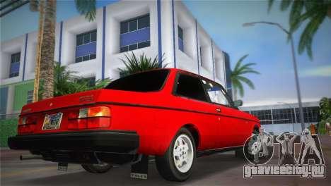 Volvo 242 Turbo Evolution для GTA Vice City вид слева
