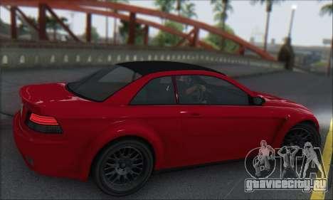 Übermacht Sentinel XS для GTA San Andreas вид сзади