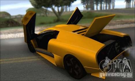 Pegassi Infernus для GTA San Andreas вид сверху