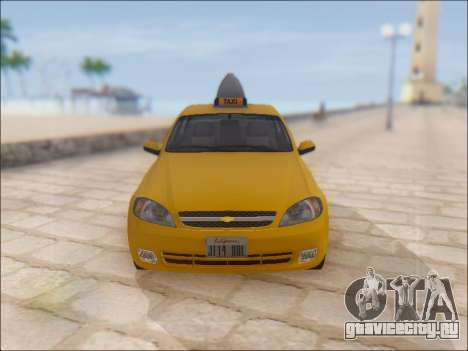 Chevrolet Lacetti Taxi для GTA San Andreas вид сбоку