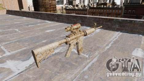Автоматический карабин М4А1 Figure beige Camo для GTA 4 второй скриншот