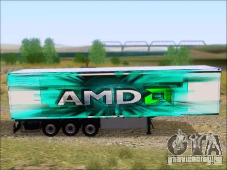 Прицеп AMD 64 Athlon X2 для GTA San Andreas вид сзади