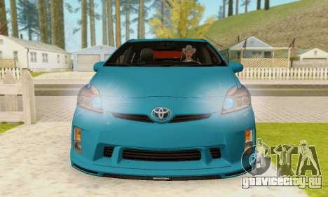 Toyota Prius Tunable для GTA San Andreas вид сзади