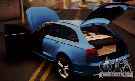 Audi S6 Avant 2014 для GTA San Andreas вид сзади