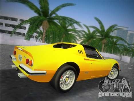 Ferrari 246 Dino GTS 1972 для GTA Vice City вид сзади