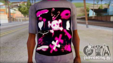 Emo T-Shirt для GTA San Andreas третий скриншот