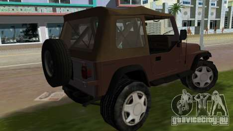 Jeep Wrangler для GTA Vice City вид слева
