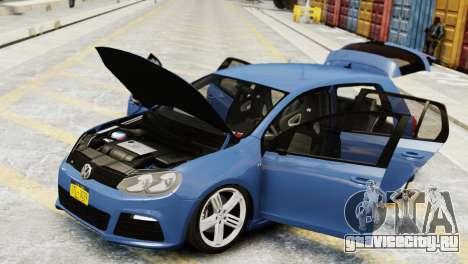 Volkswagen Golf R 2010 для GTA 4 вид справа