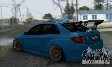 Subaru Impreza WRX STI 2010 для GTA San Andreas вид сзади