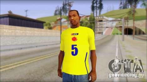 T-Shirt Colombia для GTA San Andreas