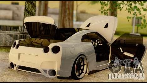 Nissan GT-R V2.0 для GTA San Andreas вид изнутри