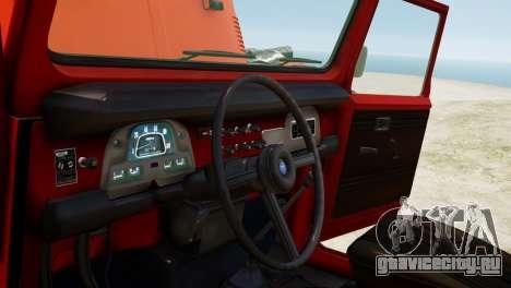 Toyota FJ40 Land Cruiser 1978 Beta для GTA 4 вид изнутри