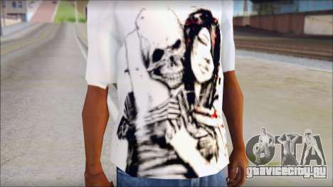 BFMV Russian Roulette T-Shirt для GTA San Andreas третий скриншот