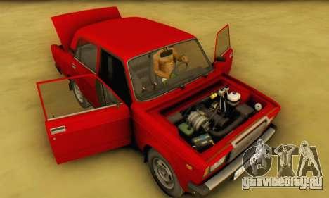 ВАЗ 2107 Stock для GTA San Andreas вид изнутри