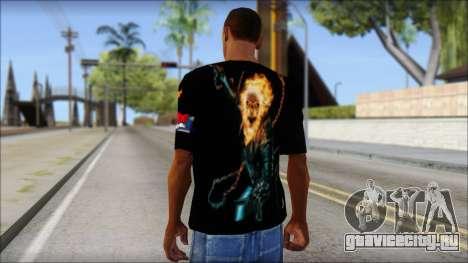 Ghost Rider T-Shirt для GTA San Andreas второй скриншот