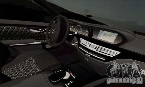 Mercedes-Benz S600 W221 2012 для GTA San Andreas вид сзади слева