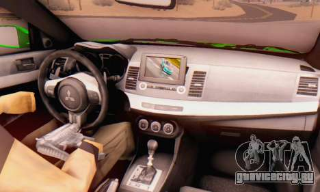 Mitsubishi Lancer Evolution X Metalhead для GTA San Andreas вид справа