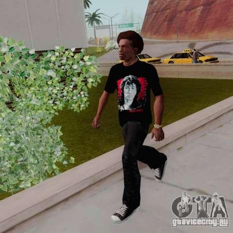 Футболка c Виктором Цоем для GTA San Andreas