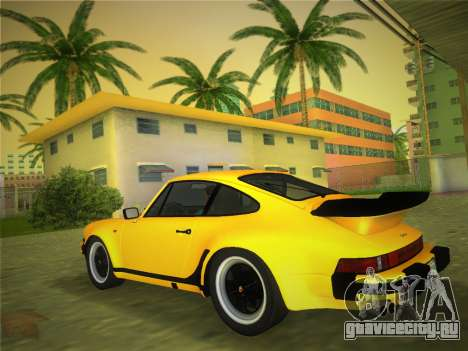 Porsche 911 Turbo 3.3 Coupe US-spec (930) 1978 для GTA Vice City вид слева