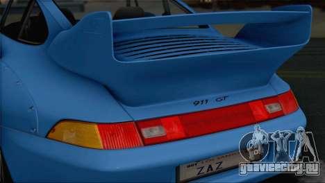 Porsche 911 GT2 (993) 1995 V1.0 SA Plate для GTA San Andreas вид снизу