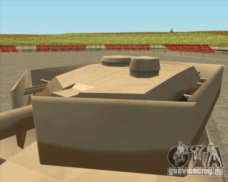 Dozuda.s Primary Tank (Rhino Export tp.) для GTA San Andreas вид справа