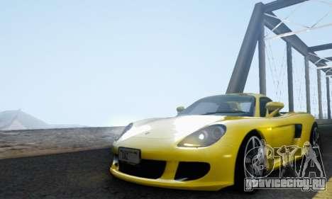 Porsche Carrera GT 2005 для GTA San Andreas вид изнутри