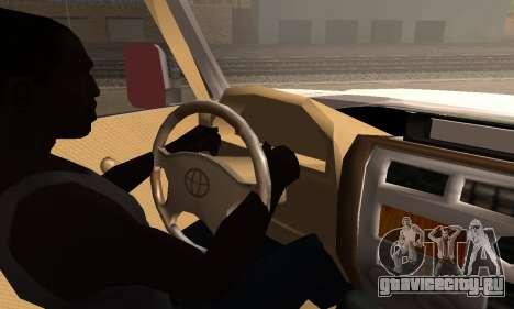 Toyota Land Cruiser LC 70 для GTA San Andreas вид сзади слева