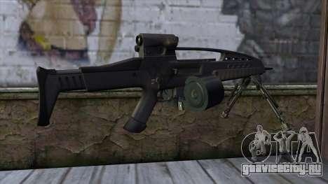 XM8 LMG Black для GTA San Andreas второй скриншот