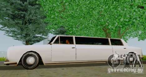 Stafford Limousine для GTA San Andreas вид слева
