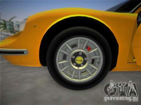 Ferrari 246 Dino GTS 1972 для GTA Vice City вид сверху