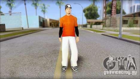 Polera Naranja con Gorro для GTA San Andreas