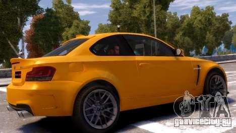 BMW 1M для GTA 4 вид сзади слева