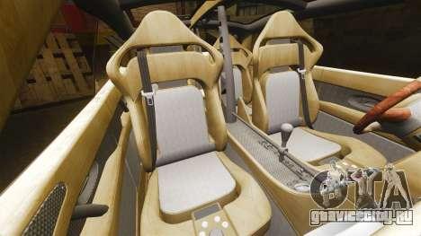 Spyker D8 для GTA 4 вид изнутри