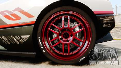 Pagani Zonda C12S Roadster 2001 v1.1 PJ4 для GTA 4 вид сзади