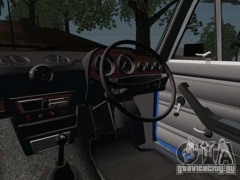 ВАЗ 21061 для GTA San Andreas вид изнутри