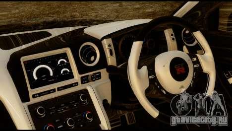 Nissan GT-R V2.0 для GTA San Andreas вид сзади слева