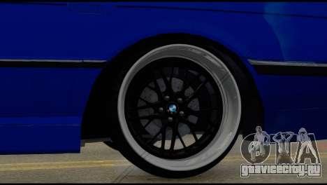 BMW 740i E38 для GTA San Andreas вид сзади слева