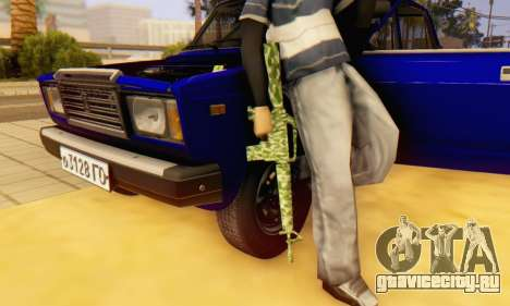 Camo M16 для GTA San Andreas