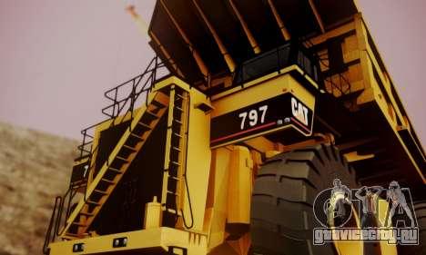 Caterpillar 797 для GTA San Andreas вид справа