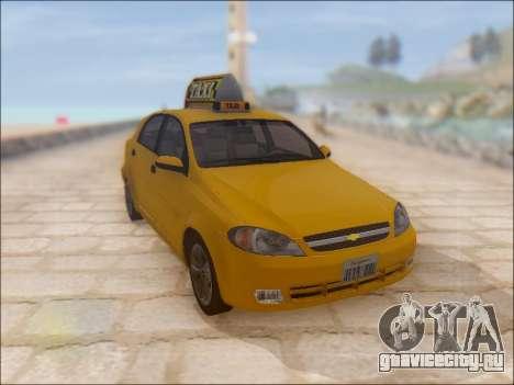 Chevrolet Lacetti Taxi для GTA San Andreas вид изнутри