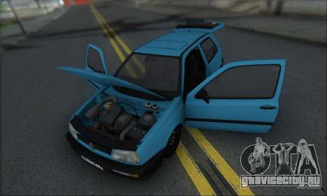 Volksvagen Golf Mk3 для GTA San Andreas вид изнутри