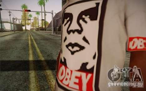 Obey Shirt для GTA San Andreas третий скриншот