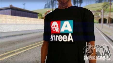 ThreeA T-Shirt для GTA San Andreas третий скриншот