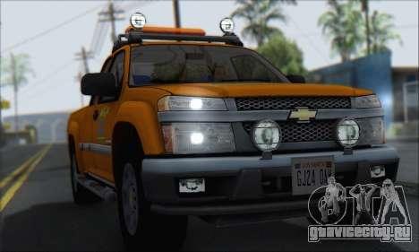 Chevrolet Colorado Cleaning для GTA San Andreas вид справа